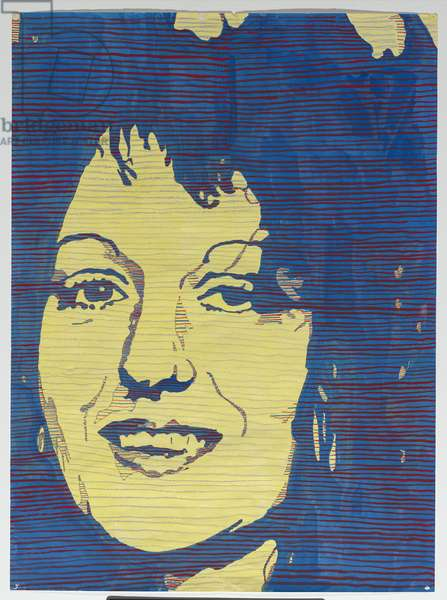 Design detail of Germaine Greer, 1981-82 (gouache, crayon & pencil)