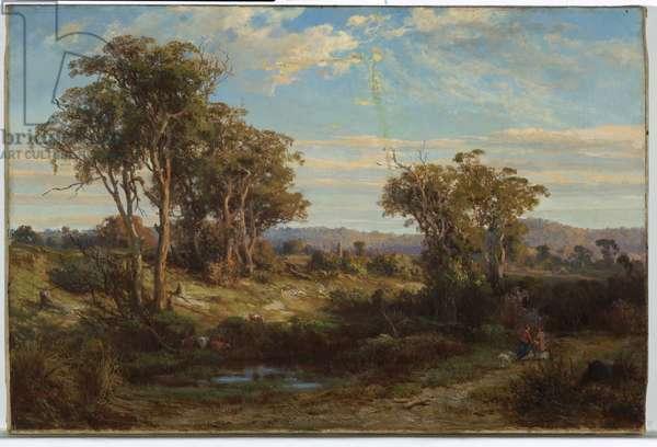 Near Lilydale, 1874 (oil on canvas)