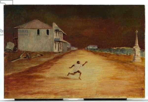 Boy Running, Cooktown, c.1952 (oil on canvas)