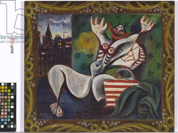 Image of modern evil: Spring in Fitzroy, 1943 (oil on canvas on plywood)