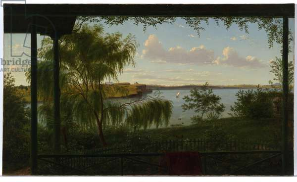 From the verandah of Purrumbete, 1858 (oil on canvas)
