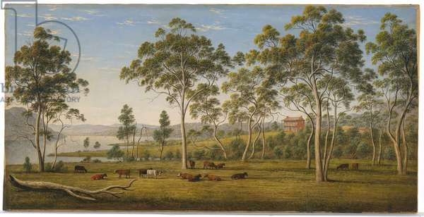 Mr. Robinson's house on the Derwent, Van Diemen's Land, c.1838 (oil on canvas)