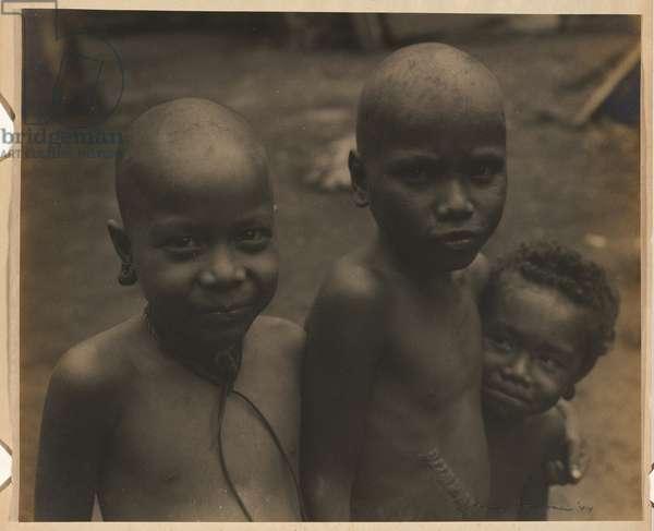 Native boys - Trobriand Islands, 1944 (gelatin silver photo)