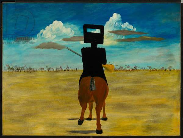 Ned Kelly, 1946 (enamel on composition board)
