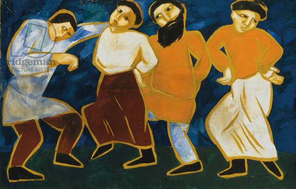 Peasants dancing, 1910-11 (oil on canvas)
