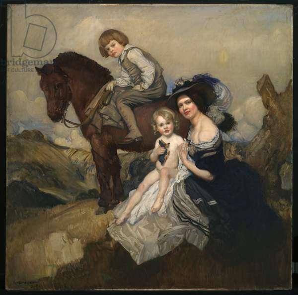 Portrait group, 1908 (oil on canvas)