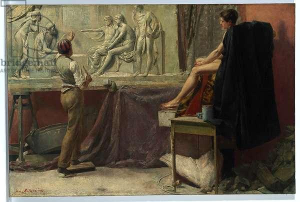 The Sculptor's Studio, 1885 (oil on canvas)
