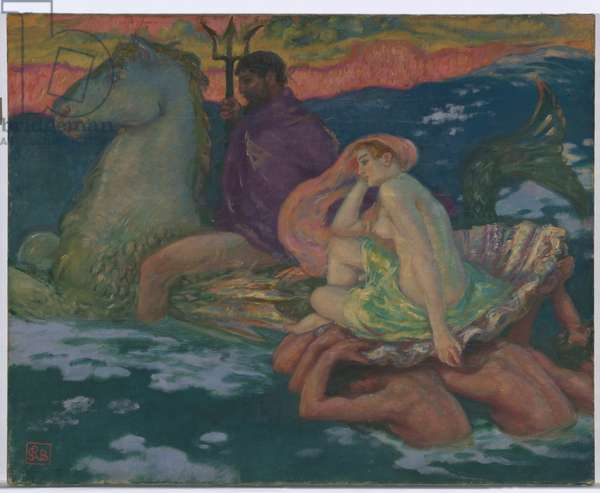Poseidon and Amphitrite (Les Dieux Marins) c.1913 (oil on canvas)