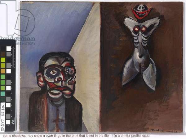 Image of modern evil: Demon dreamer, 1943 (oil on paper on cardboard)