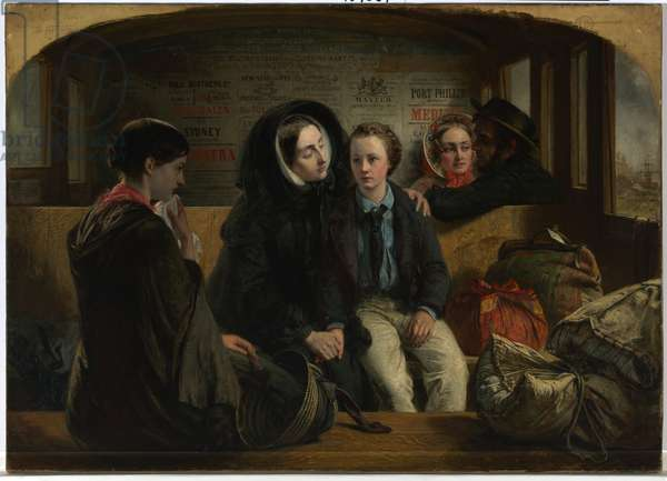 Second Class - The Parting, 1854 (oil on canvas)