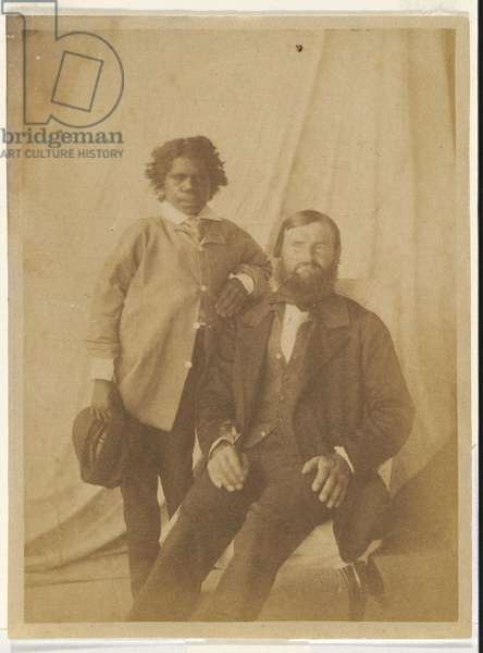 William Landsborough and his native guide, Tiger, 1858 (salted paper photo)