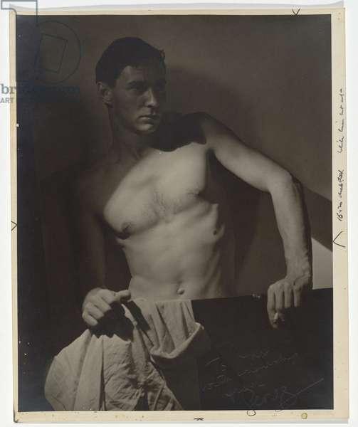 Max after surfing, 1937 (gelatin silver photo)