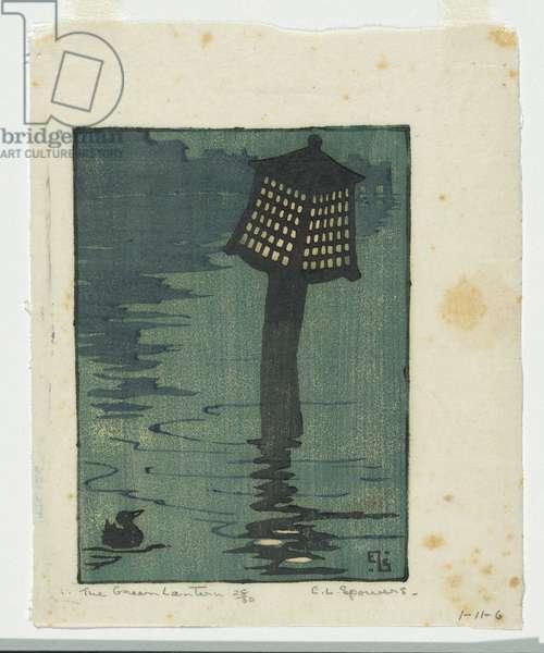 The green lantern, c.1927 (colour linocut)