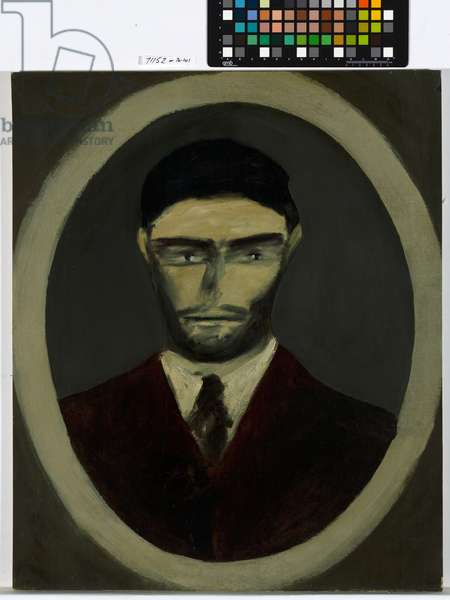 Ned Kelly, 1946 (oil & enamel paint on paper)