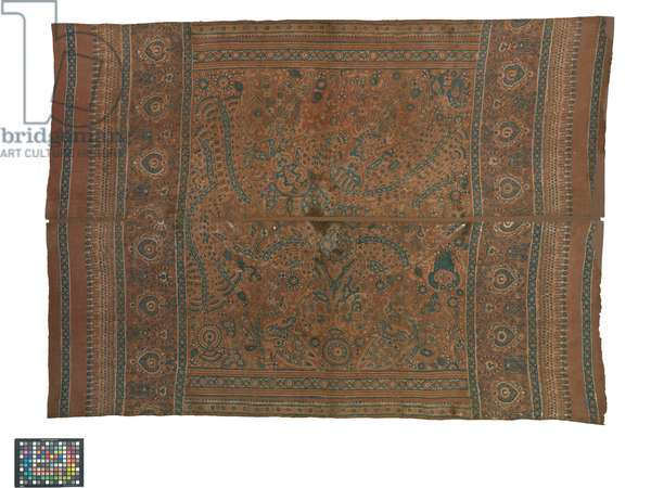 Ceremonial cloth and sacred heirloom, Deccan, 17th-18th century (handspun cotton, natural dyes, mordants; mordant painting, batik)