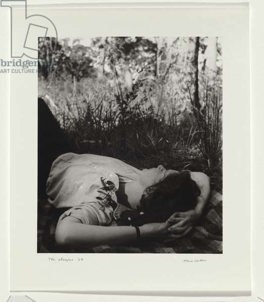 The Sleeper, 1939 (gelatin silver photo)