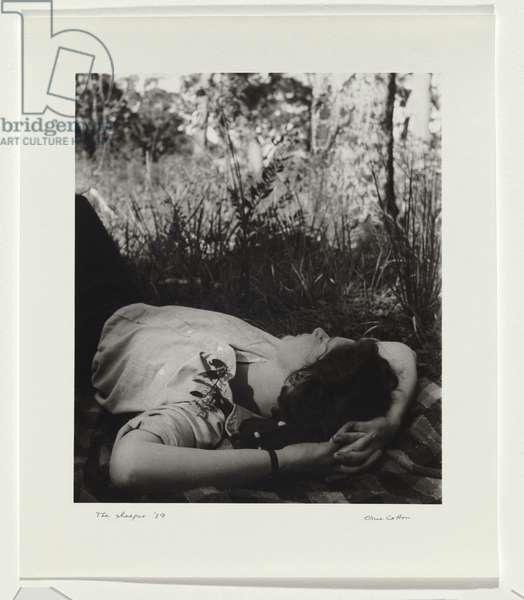 The Sleeper, 1939 (gelatin silver photo)