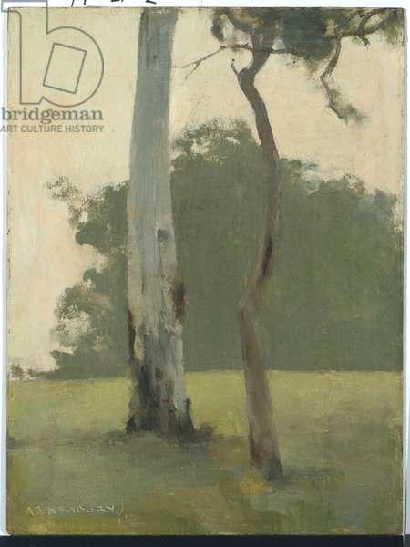 Eltham, 1919 (oil on academy board)
