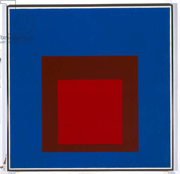 Homage to the Square: On an Early Sky, 1964 (oil on composition board)