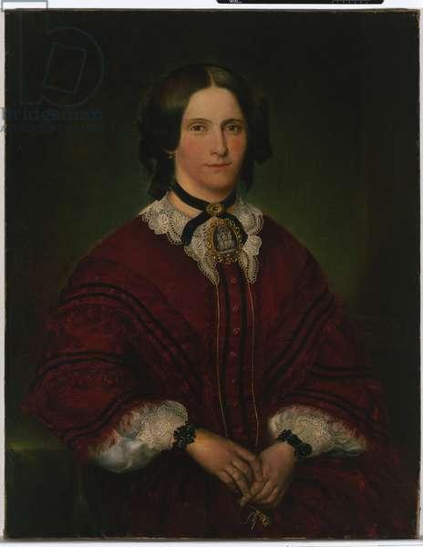 Mrs John Thomas, 1858 (oil on canvas)