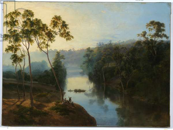 Studley Park at Sunrise, 1861 (oil on canvas)