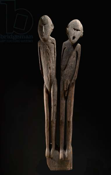 Double figure, Sentani people, Khabitorou village (also known as Ifar Besar), Central Lake Sentani, Papua (wood)