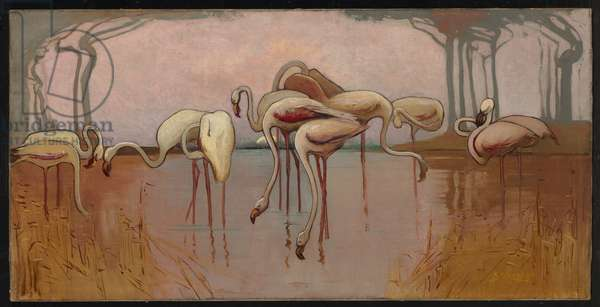 Flamingoes, c.1905-06 (oil on canvas)