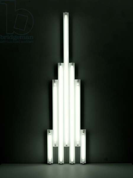 Monument to V. Tatlin, 1966-69 (fluorescent tubes & metal)