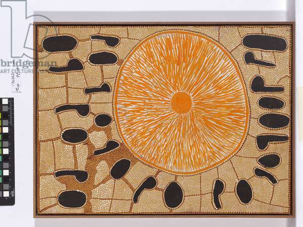 Moon Dreaming, Pintupi People, 1978 (synthetic polymer paint on composition board)