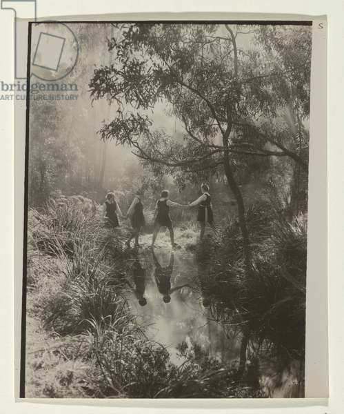 Stepping stones (The crossing) 1934 (gelatin silver photo)
