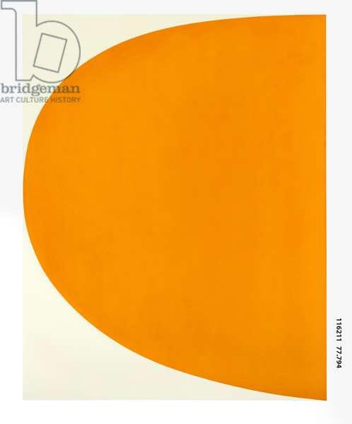 Orange Curve, 1964-65 (oil on canvas)