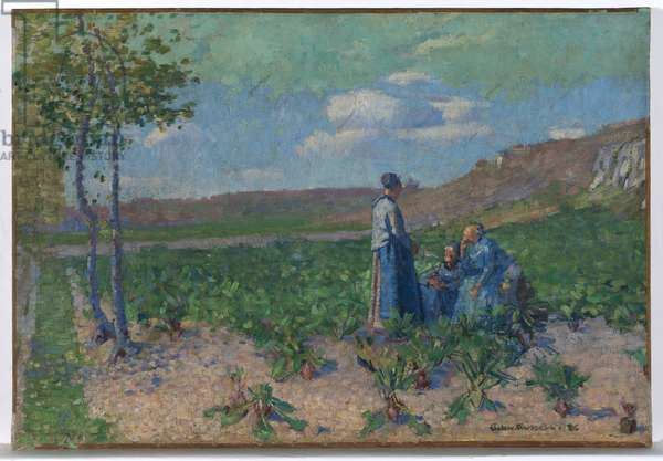 Peasant women at Monte Cassino, 1886 (oil on canvas)