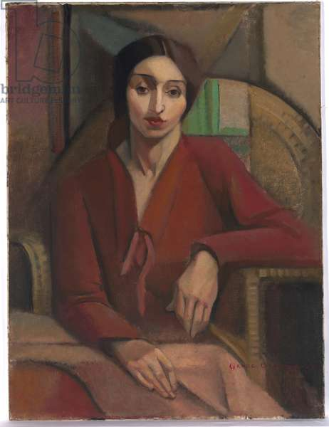 Portrait study, 1928 (oil on canvas on composition board)