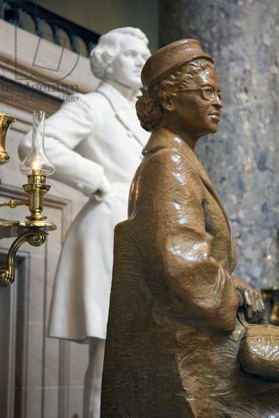 The Rosa Parks statue in the Statuary Hall in the United States Capitol Building in Washington, DC (photo)
