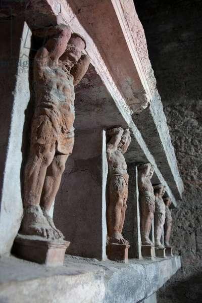 Inside the Terme Stabiane in Pompeii (photo)