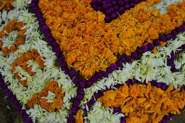Graves decorated with flowers for the Day of Dead celebration at the San Antonino graveyard (photo)