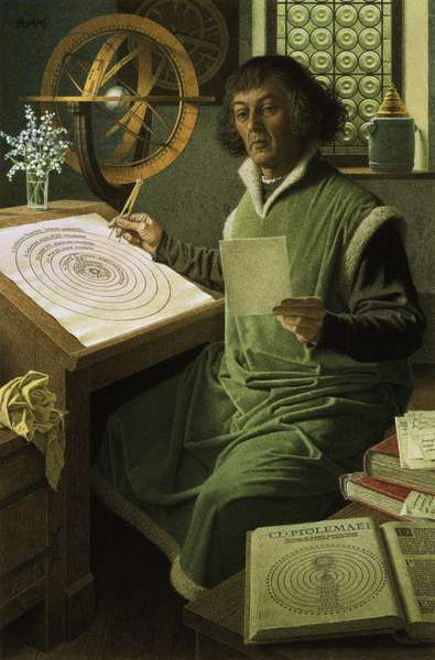 Copernicus (colour litho)