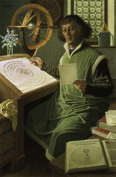 Copernicus (colour litho)