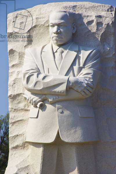 Close view of the 30-foot statue of Dr Martin Luther King, Jr (photo)