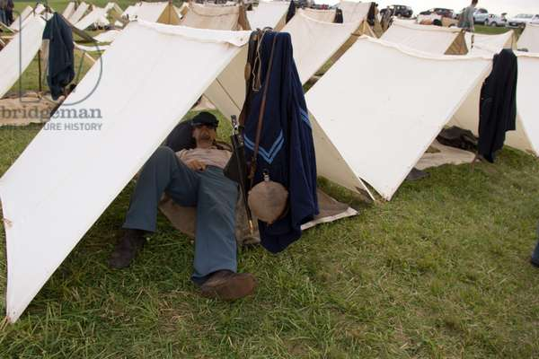 A reenactment camp marks the 150th anniversary of the Battle of Gettysburg (photo)