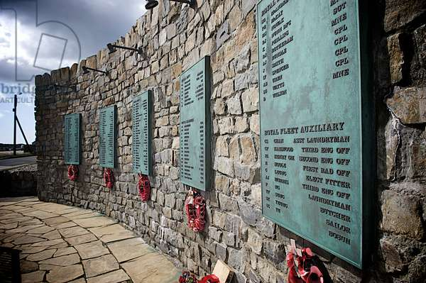 Memorial to British soldiers who sacrificed lives during the Falkland War