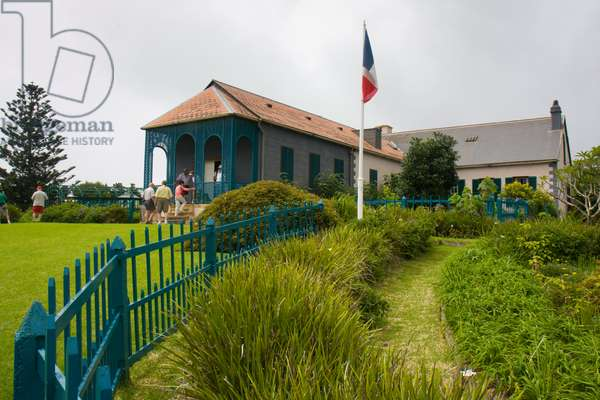 Longwood House, where Napoleon was held in exile until his death (photo)