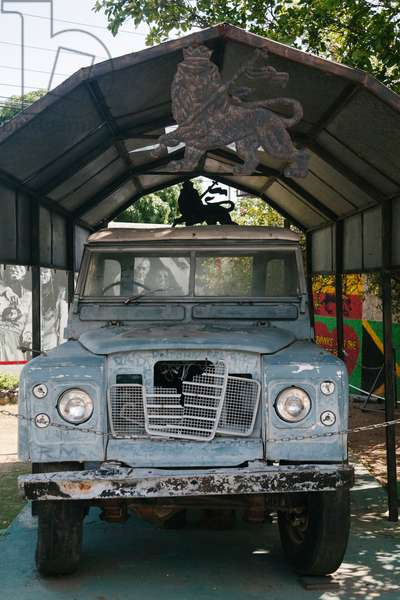 The landrover driven that Bob Marley drove, located at the Bob Marley Museum in Kingston (photo)
