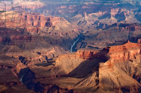 Aerial view of the Colorado River winding through the Grand Canyon (photo)