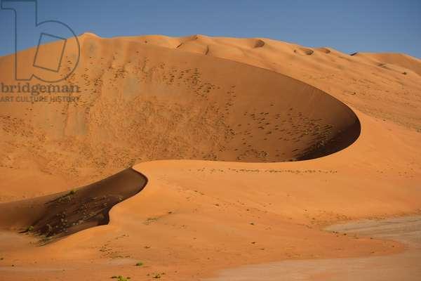300 meter high drifting sands in the Rub' al Khali, the Empty Quarter, north of Al Hashman near the Saudi Arabia border, Oman (photo)