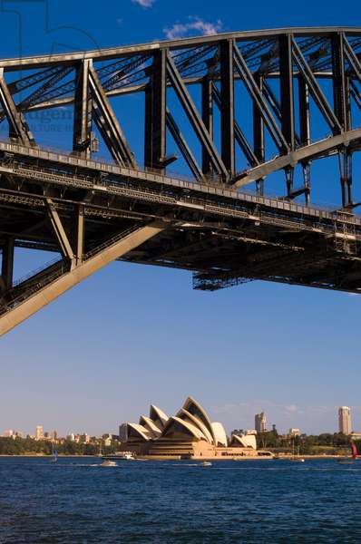 A view of the Sydney Opera House from the Harbour Bridge (photo)