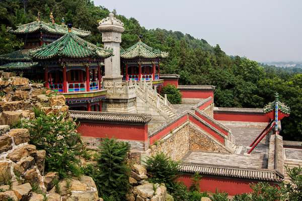 A high angle view of part of the Summer Palace on Longevity Hill (photo)