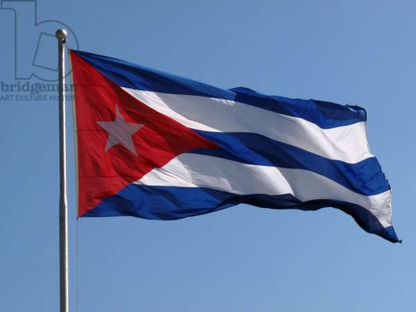 The Cuban flag waves in Revolution Square (photo)