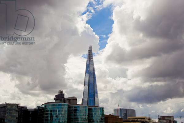 Heavy clouds over The Shard Also known as the London Shard, or Shard of Glass, it is the tallest building in Europe at 1,012 feet (photo)