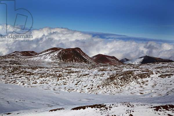 A view from the summit of Mauna Kea on the Big Island of Hawaii, elevation 13,796 feet (photo)